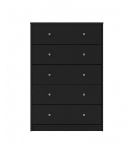 May Chest of 5 Drawers in Black (703298686)
