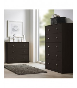 May Chest of 5 Drawers in Dark Walnut (703292020)