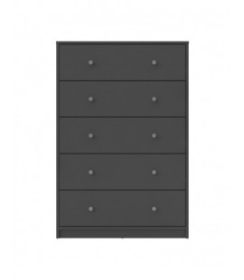 May Chest of 5 Drawers in Grey (70329cncn)