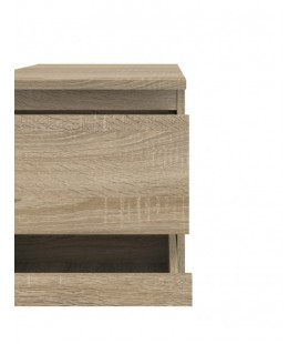 Nova Bedside 2 Drawer in Oak (71092ak)