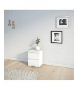 Nova Bedside 2 Drawer in White (7109249)