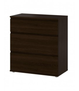 Nova Chest of 3 Drawers in Dark Walnut (7109420)
