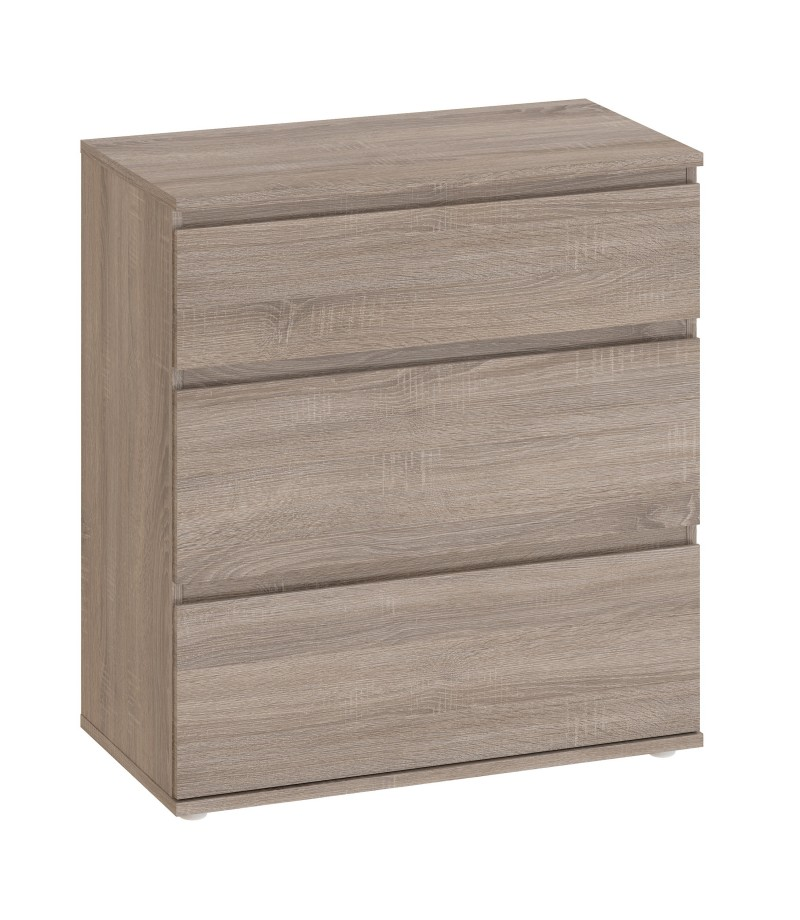 Nova Chest of 3 Drawers in Truffle Oak (71094cj)