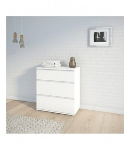 Nova Chest of 3 Drawers in White (7109449)