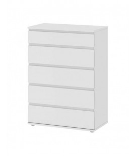 Nova Chest of 5 Drawers in White (7120049)