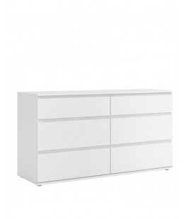 Nova Wide Chest of 6 Drawers (3+3) in White (712524949)
