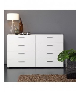 Pepe Wide Chest of 8 Drawers (4+4) in White (7007349)