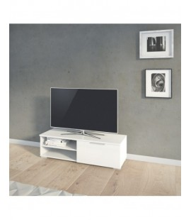 Match TV Unit 1 Drawers 2 Shelf in White High Gloss (70066uuuu)