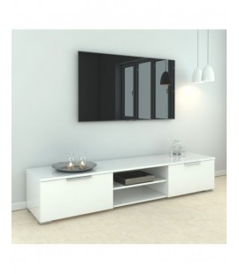 Match TV Unit 2 Drawers 2 Shelf in White High Gloss (70189uuuu)