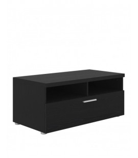 Napoli TV Unit 1 Drawer 2 Shelves in Black Woodgrain (7417761)