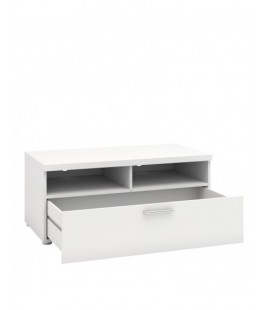 Napoli TV Unit 1 Drawer 2 Shelves in White (7417749)