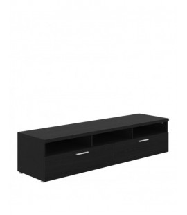 Napoli TV Unit 2 Drawers 3 Shelves in Black Woodgrain (741796161)
