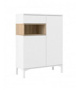 Roomers Sideboard 2 Drawers 1 Door in White and Oak (9217349ak)