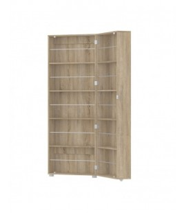 Bright Shoe Cabinet 1 Door w/ Mirror in Oak (71009akak)