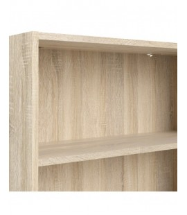 Basic Low Wide Bookcase (2 Shelves) in Oak (71776ak)