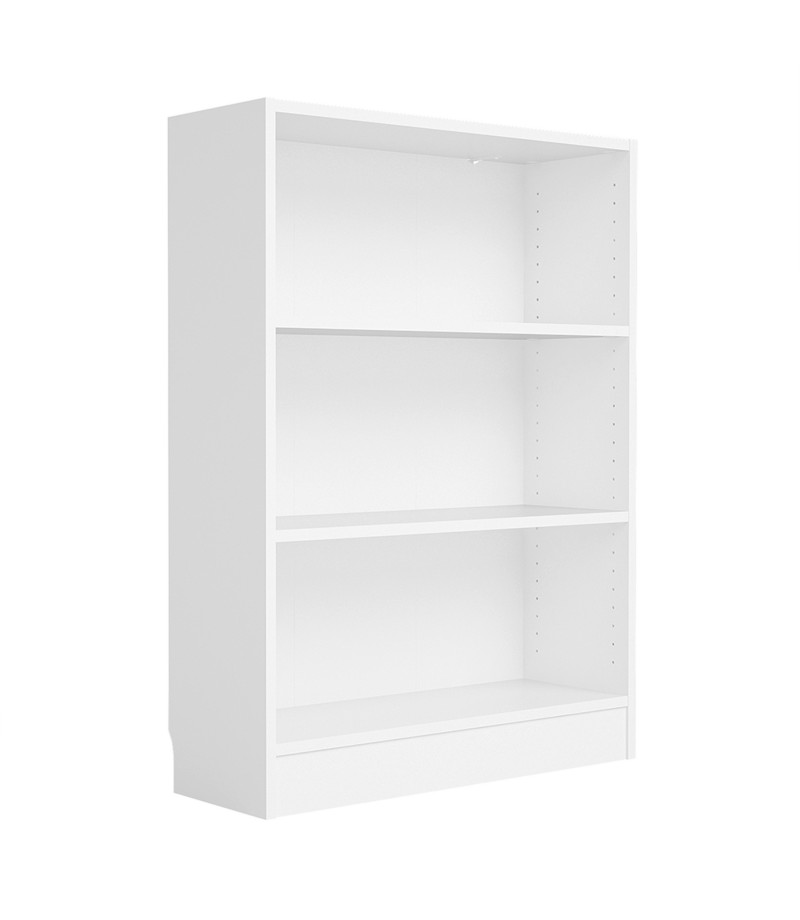 Basic Low Wide Bookcase (2 Shelves) in White (7177649)
