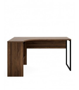 Function Plus Corner Desk 2 Drawers in Walnut (80118djdj)