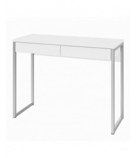 Function Plus Desk 2 Drawers in White High Gloss (80122uu)