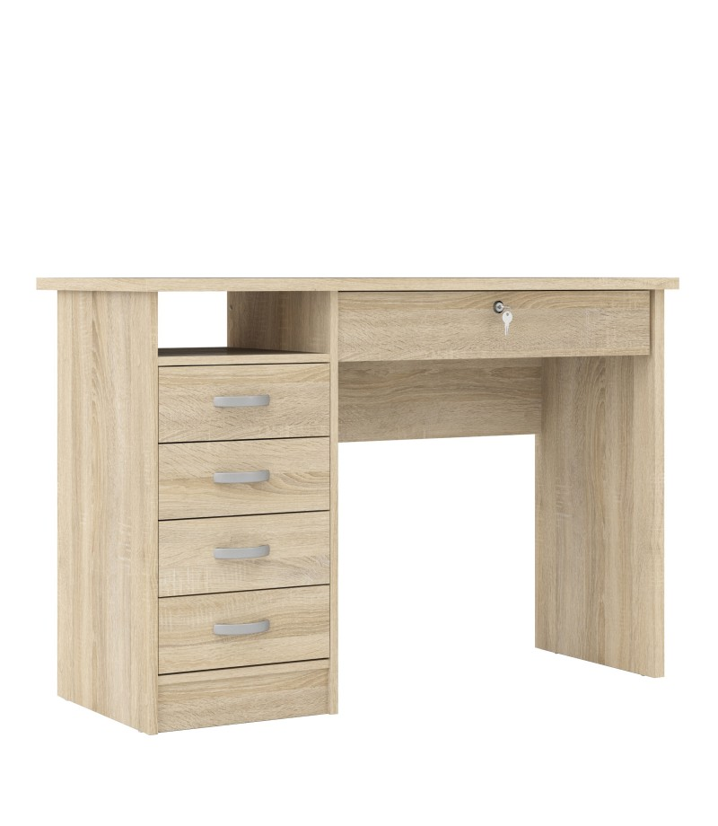 Function Plus Desk 5 Drawers in Oak (80163akak)