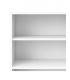 Prima Bookcase 2 Shelves in White (8042349)
