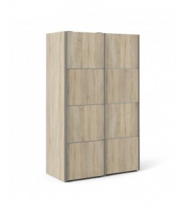 Verona Sliding Wardrobe 120cm in Oak with Oak Doors with 2 Shelves ()