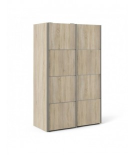 Verona Sliding Wardrobe 120cm in Oak with Oak Doors with 5 Shelves ()