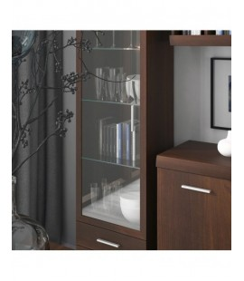 Imperial Tall Glazed 1 Door 2 Drawer Narrow Cabinet (1)