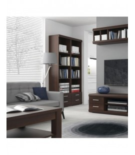 Imperial Tall 2 Drawer Narrow Cabinet open shelving (11)