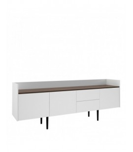 Unit Sideboard 2 Drawers 3 Doors in White and Walnut (7090049dj)
