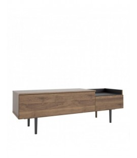 Unit Sideboard 2 Drawers in Walnut and Black (92148dj86)