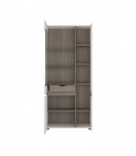 Chelsea Tall Glazed Wide Display unit (RHD) (05L)