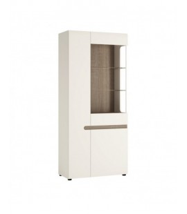 Chelsea Tall Glazed Wide Display unit (LHD) (05P)