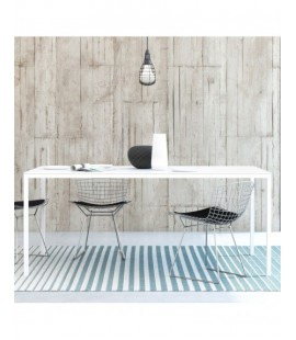 Family Dining Table 180cm White Table Top with White Legs (75470/014949)