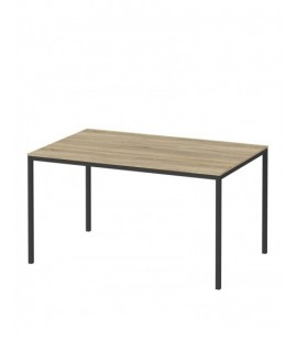 Family Dining Table 140cm Oak Table Top with Black Legs (75470/02ak60)