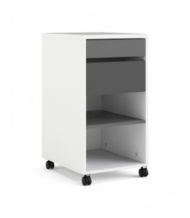 Function Plus Mobile file cabinet 2 drawers + 1 shelf White Grey (7048149cn)