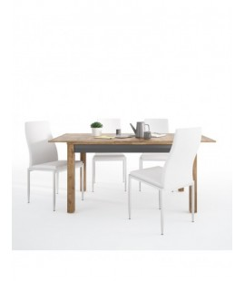 Dining set package Havana extending dining table + 4 Milan High Back Chair White. (4297568/5010101)