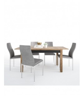 Dining set package Havana extending dining table + 4 Milan High Back Chair Grey. (4297568/5010153)