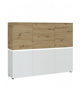 Luci 6 door cabinet (including LED lighting) in White and Oak (6000000007967)