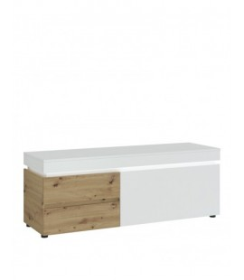 Luci 1 door 2 drawer 150 cm TV unit (including LED lighting) in White and Oak (6000000009453)