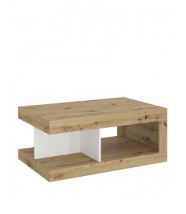 Luci Coffee table in White, Oak and Platinum (6000000009566)
