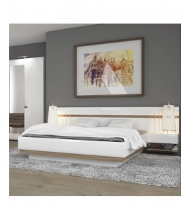Chelsea Kingsize Bed in white gloss with an Oak trim with Lift Up Function (94)